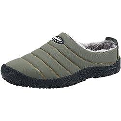 Zapatilla casa Hombre Invierno Al Aire Libre/Interior Casa Zapatos Impermeable Slippers Más Grueso Suave Algodón Zapatilla