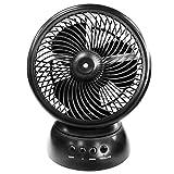 Ventilator mit Zerstäuber, schwenkbar, 2 Geschwindigkeitsstufen, Stromversorgung über USB