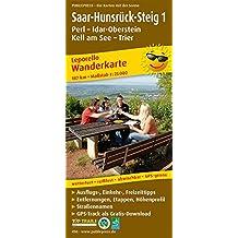 Saar-Hunsrück-Steig 1, Perl - Idar-Oberstein, Kell am See - Trier: Leporello Wanderkarte mit Ausflugszielen, Einkehr- & Freizeittipps, wetterfest, ... 1:25000 (Leporello Wanderkarte / LEP-WK)