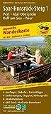 Saar-Hunsrück-Steig 1, Perl - Idar-Oberstein, Kell am See - Trier: Leporello Wanderkarte mit Ausflugszielen, Einkehr- & Freizeittipps, wetterfest, .. - 1:25000 (Leporello Wanderkarte / LEP-WK) -