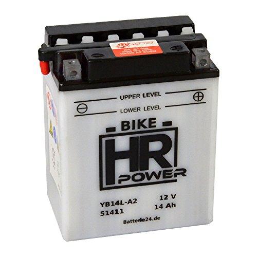 Motorradbatterie Starterbatterie 12V 14Ah YB14L-A2 51411