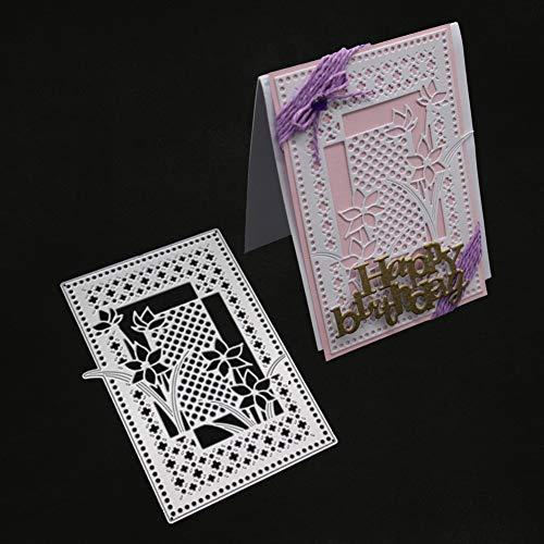 Gestell Metall Stanzform DIY Papier Kunst Spray Karbonstahl Grußkarte Küche Haushalt Living DIY Scrapbooking Prägung Schablone - Silber