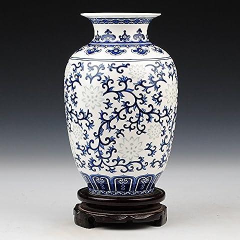 Loopsd classica di porcellana blu e bianco dello smalto in