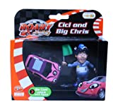 ROARY THE RACING CAR DIE CAST: CICI & BIG CHRIS FIGURINE