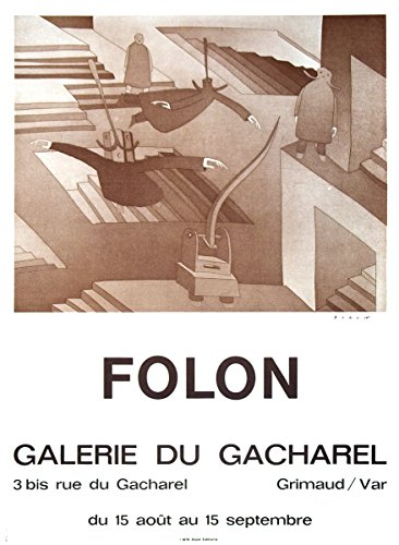 1972Jean-Michel Folon Galerie du Cacharel Druckvorlage von