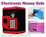 Gadget Hero'S Portable Electronic Digital Passcode Lock with Voice Alert Piggy Bank with Automatic Currency Note Accepter and Coin Drop Slot