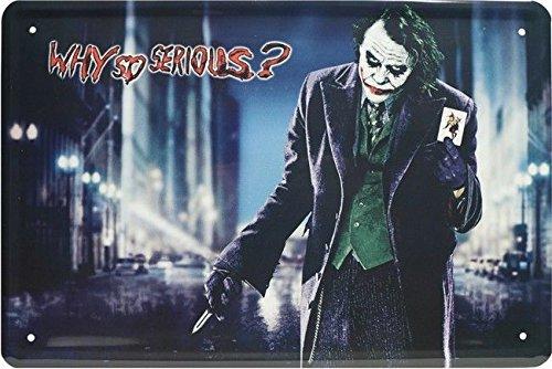 Blechschild 20x30 cm Batman Joker Comic Superheld Heath Ledger Metall (Superhelden Schild)