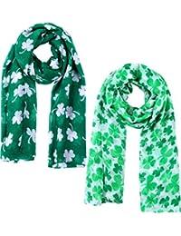 7af8a1f018d0 Écharpe de la Jour de St. Patricks Écharpe Verte pour la Décorations de  Fête Accessoires