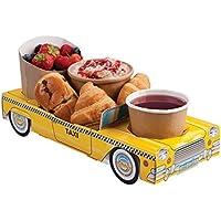 X5New York Yellow Taxi Cab Auto–Party Essen Food-Tabletts Snack Lunchbox Teller Tablett preisvergleich bei kinderzimmerdekopreise.eu