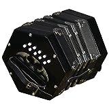 Trinity College AP-112020-Button anglo-style Concertina, colore: nero