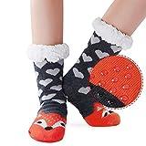 AIDEAONE Frauen Wollsocken Dick Winter Casual warme gestrickte Hausschuhe Bett Socken