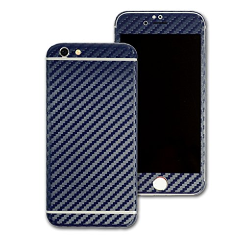 3D texturierte Kohlefaser Skin Wrap Aufkleber Aufkleber Cover Displayschutzfolie für Apple iPhone 6Plus 14cm (Apple-aufkleber Carbon Fiber)