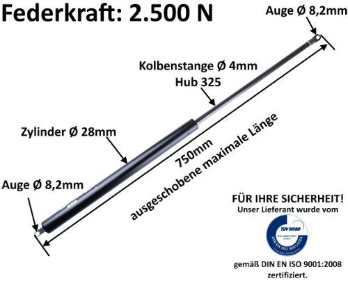 Preisvergleich Produktbild WAMO Gasdruckfeder 2500N