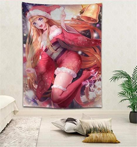 ZKPGUA Wandteppiche Weihnachten Anime Tapisserie Hängen Decke Hintergrund Wand Schlafzimmer Home Art Tapisserien Dekor [D] 150X230Cm (Decke Dekor Weihnachten)