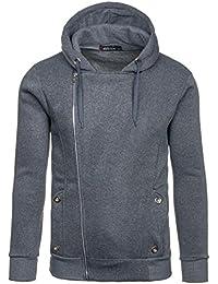 BOLF Herren Kapuzenpullover Pullover Sweatjacke Hoodie Langarmshirt Sweatshirt Mix 1A1