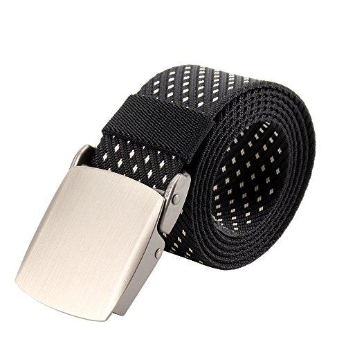 Ring Cinch-gürtel (BEKILOLE Herren Gürtel Gr. Medium, 6-Dotted Black)