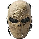 Geist Schädel Airsoft Paintball Vollmaske Militärschutz Halloween Kostüm