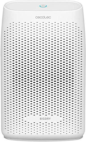 cecotec bigdry 2000 essential deshumidificador, 300 ml/día, depósito extraíble de 0,7 litros, cobertura hasta 20 m2, filtro extraíble y lavable, apagado automático