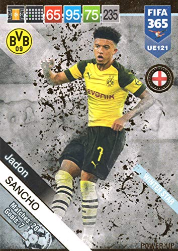 PANINI ADRENALYN XL FIFA 365 2019 Update - Jadon Sancho Winter Star Trading Card #UE121
