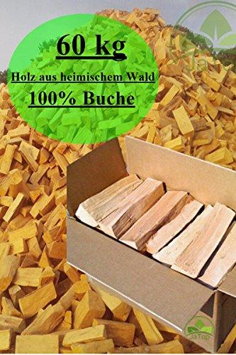 *60 kg Brennholz 100% Buche Kaminholz Feuerholz ofenfertig kammergetrocknet 25 – 30 cm*
