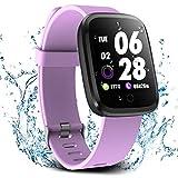 Verpro Smartwatch Impermeabile Orologio Fitness Uomo Donna Bambini, Smart Watch cardiofrequenzimetro da Polso, Orologio Digitale GPS Running Sportivo, Porpora