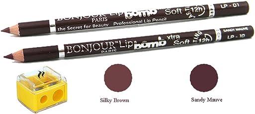 Coat Me Bonjour Paris Perfect Pout Lip Liner (Silky Brown/Sandy Mauve)