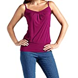 OYSOHE Damen Vogue Unifarben T Shirts, Neueste Frauen Sommer Sexy Sleeveless Baumwolle Tank Camis Tops Weste Bluse Plus Größe (S, Lila)