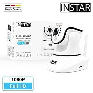 Überwachungskamera IN-8015 Full HD Weiss von INSTAR - WLAN IP Kamera - Innenkamera - IP Cam - Pan Tilt - Alarm - PIR - Bewegungserkennung - Nachtsicht - Weitwinkel - LAN - WiFi - RTSP - ONVIF