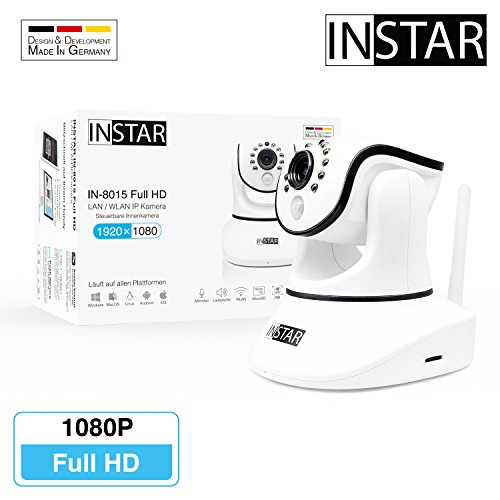 INSTAR IN-8015 Full HD weiss - WLAN Überwachungskamera - IP Kamera - IP Cam - Innenkamera - Pan Tilt - Alarm - PIR - Bewegungserkennung - Nachtsicht - Weitwinkel - LAN - WiFi - RTSP - ONVIF Video-recording-system