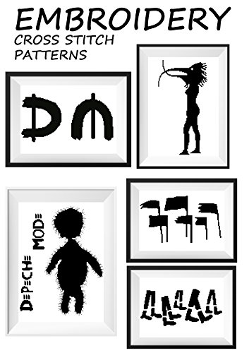 Depeche mode rock star Dave Gahan cross stitch patterns DM rock band symbol logo Wall art monochrome canvas digital embroidery designs patterns book needlepoint ... wall art funny originals (English Edition) (Canvas Star)
