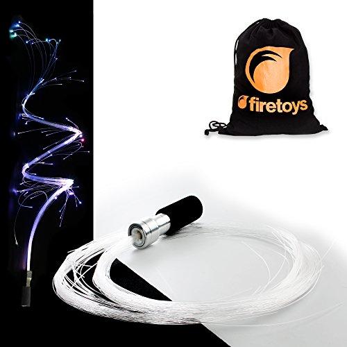 Fiberflies PixelWhip V4! Atemberaubende LED Fiberoptik Leucht-Requisite + Firetoys® Tasche Ideal für Raves, Partys und Festivals.