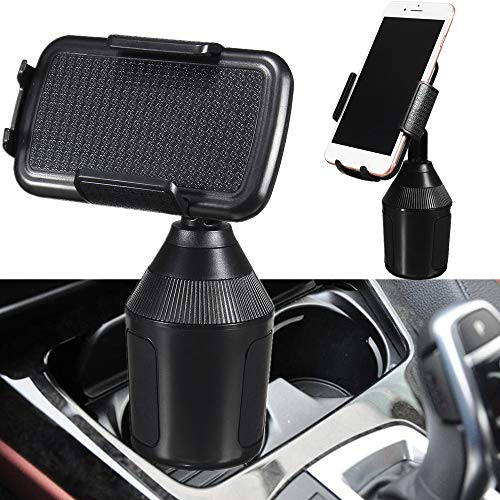 Wawer Auto Handyhalter Cupholder fürs alle Smartphone, Universal Auto Handyhalter Auto Handy Halterung Verstellbarer Getränkehalter für Handys Weather Tech
