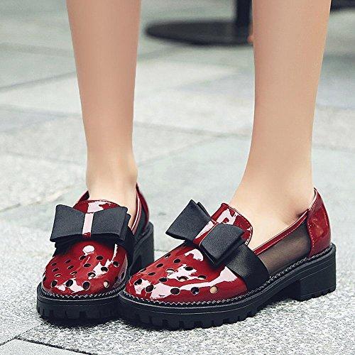 Misssasa Donna Sweat Chaussures Rouge