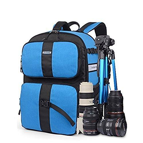 yaagle-sac-a-dos-unisexe-pour-appareil-photo-loisir-simple-voyage-sport-en-polyester-bleu