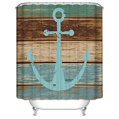 Starsglowing 180x180cm Duschvorhang Duschvorhänge Badewannenvorhang Anti-Schimmel wasserdichter mit 12 Duschvorhangringe für Bad Badezimmer (Typ 3)