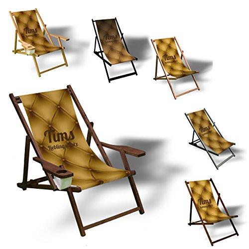 Printalio Wunschtext - Sofa - Liegestuhl Bedruckt Balkon Garten Sonnenliege Relax Holz Terrasse  ...
