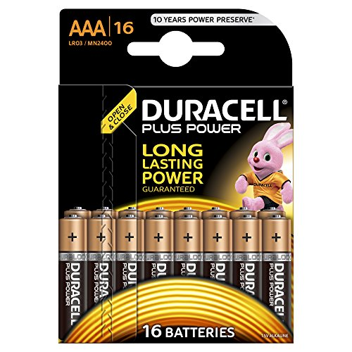 Duracell 81553297 Plus Power Batteria Alcalina di Tipo AAA 16,
