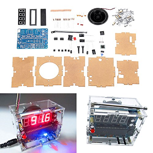 BouBou Tea5767 Dc 4.5V-5.5V DIY Mini Digital Fm Radio 87Mhz-108Mhz 2W 8Ohm Lautsprecher Elektronik Kit Shield Mini-taste