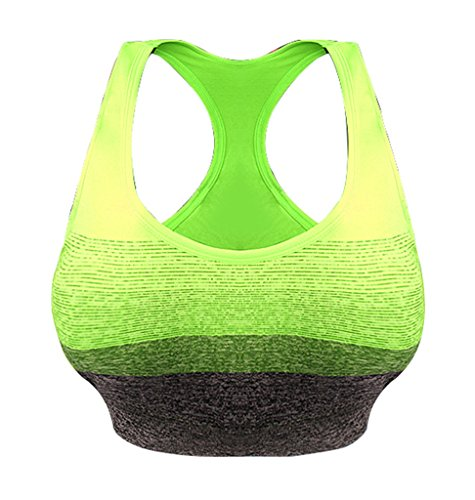 Ailin home- Anti-Shock Sports Lingerie Running Gathering Fitness Vest dames sans soutien-gorge en acier Vert