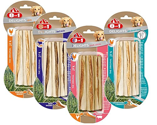 Artikelbild: 8in1 Delights Kausticks 12er Pack (4 x 3er Pack) by Zoolox ®