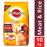 Pedigree Adult Dry Dog Food, Meat & Rice, 10 kg Pack