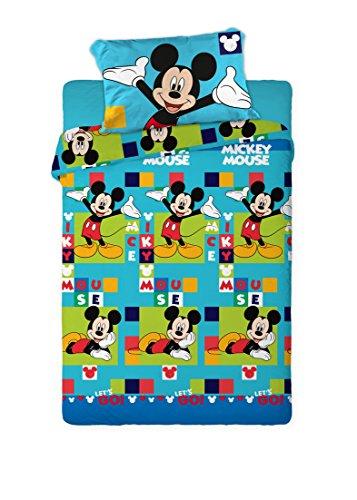Disney Juego de Sábanas Térmica Polar 150GR Mickey (para Cama de 90x190)
