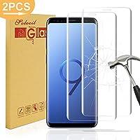 2pcs Galaxy S9 Plus Pel¨ªcula protectora a prueba de balas de vidrio, Solocil 3D 9H Dureza HD Ultra Clear Anti-ara?azos a prueba de balas de cristal Protector de pantalla Protector de pantalla para Samsung Galaxy S9 Plus