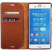 Étui de téléphone portable, multifonctionnel Ultra-mince Protecteur rigide Étui de téléphone de luxe avec carte de crédit Slots Portefeuille Porte-monnaie Slim Stand Hander Sac à main Étui de téléphone cellulaire Shell pour Sony Z3 / Z3 + / Z4.