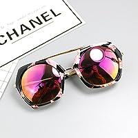 Sunyan Roch 1000 mit einem rahmenlosen Dreieck double lens Sonnenbrillen Sonnenbrillen tide Magazin Persönlichkeit, Rosa