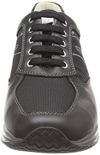 Geox U Happy G, Herren Hohe Sneakers Schwarz (Black)