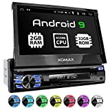 XOMAX XM-DA708 Autoradio mit Android 9.0, QuadCore, 2GB RAM, 32 GB ROM, GPS Navigation, DVD, CD I Support: WiFi WLAN, 3G 4G, DAB+, OBD2 I Bluetooth, 7 Zoll / 18 cm Touchscreen, USB, SD, AUX, 1 DIN