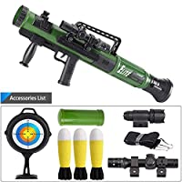 Kids Military Toy Rocket Launcher Set,Tactics Missile Mortar Toy with 3 Safety LED Foam Shells,Best Gift for Kids To Simulate Military War Games Outdoors