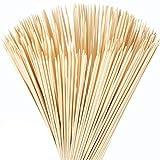 Cusfull Brochettes en Bambou pour Barbecue 76cm Bambou Guimauve Bâton à Rôtir Idéal pour Camp/Pique Nique/Teppanyaki (100 Pièces)