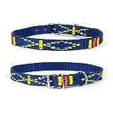 Strapazierfähiges Nylon Hunde Halsband Native Look große Hunderassen L XL XXL bunt blau XS